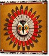 Hopi Owl Mask Acrylic Print