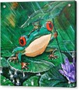 Hoppin' In The Rain Acrylic Print