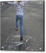 Hopscotch Queen Acrylic Print