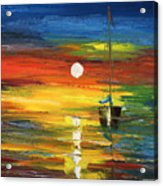 Horizon Sail Acrylic Print by Ash Hussein