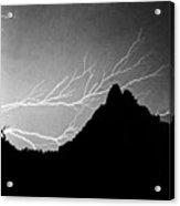 Horizonal Lightning Bw Acrylic Print