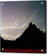 Horizonal Lightning Poster Acrylic Print