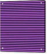 Horizontal Black Inside Stripes 30-p0169 Acrylic Print