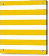 Horizontal White Inside Stripes 05-p0169 Acrylic Print