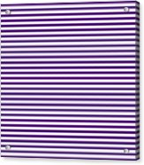 Horizontal White Outside Stripes 30-p0169 Acrylic Print
