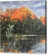 Horn Pond In Autumn Acrylic Print