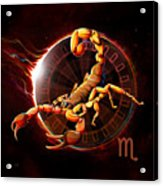 Horoscope Signs-scorpio Acrylic Print