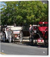 Horse And Carriage Ride Acrylic Print