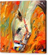Horse And Grass Acrylic Print