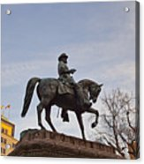 Horse And Rider Monument Acrylic Print