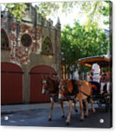 Horse Carriage At Kings Street Acrylic Print