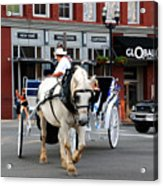 Horse Carriage In Nashville Acrylic Print
