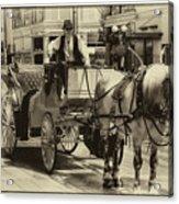 Horse Drawn Carriage Acrylic Print