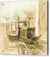 Horse Drawn Funeral Cart  Acrylic Print