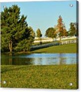 Horse Farm Pond Acrylic Print