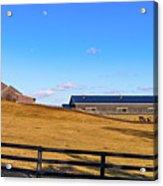 Horse Farm - Rising Moon Acrylic Print