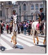 Horse Guard At Parade Acrylic Print