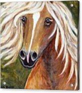 Horse Painting Blondie Acrylic Print