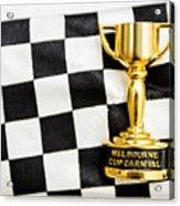 Horse Races Trophy. Melbourne Cup Win Acrylic Print