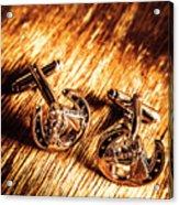 Horse Racing Cuff Links Acrylic Print