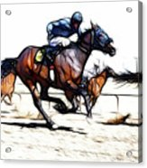 Horse Racing Dreams 1 Acrylic Print