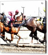 Horse Racing Dreams 2 Acrylic Print