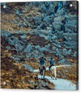 Horse Riders At Mahon Falls Acrylic Print