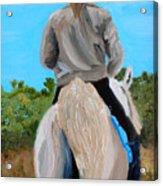 Horseback Ridding Acrylic Print