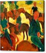 Horseback Riders Acrylic Print