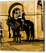 Horseguards Inspection. Acrylic Print