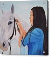 Horselady Acrylic Print