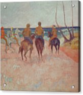 Horseman On The Beach Acrylic Print