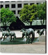Horses At William Square  Acrylic Print