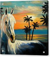 Horses In Paradise  Tell Me Your Dream Acrylic Print