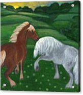 Horses Of The Rising Sun Acrylic Print by Anna Folkartanna Maciejewska-Dyba