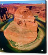 Horseshoe Bend Filters Paint  Acrylic Print
