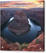 Horseshoe Bend Sunset Acrylic Print by Loree Johnson