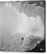 Horseshoe Falls Black And White Acrylic Print