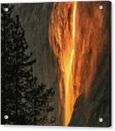 Horsetail Falls In Yosemite National Park Acrylic Print