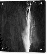Horsetail Falls Yosemite Black And White Acrylic Print