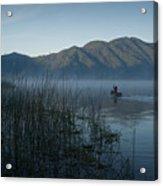 Horsetails On Lake Atitlan Guatemala Acrylic Print