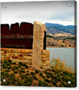 Horsetooth Peak Above The Reservoir Acrylic Print