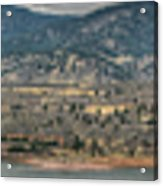 Horsetooth Reservoir Panoramic Hdr Acrylic Print by Aaron Burrows
