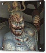 Horyu-ji Temple Gate Guardian - Nara Japan Acrylic Print