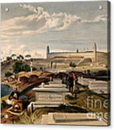 Hospital And Cemetery At Scutari, C.1854 Acrylic Print