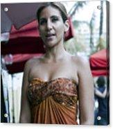 Hostess At South Beach Restaurant  Acrylic Print