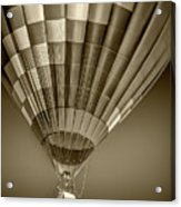 Hot Air Balloon And Bucket In Sepia Tone Acrylic Print