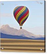 Hot Air Balloon And Longs Peak Acrylic Print