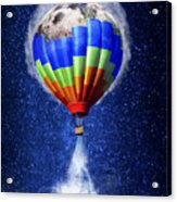 Hot Air Balloon / Digital Art Acrylic Print