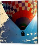 Hot Air Balloon Eclipsing The Sun Acrylic Print